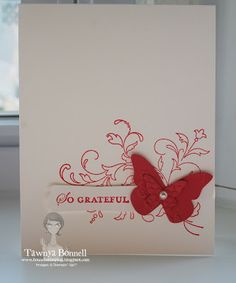 Stampin Up Creative Elements, Butterfly Edgelit