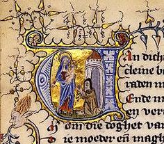 Middeleeuws handschrift, ontzettend gedetailleerd