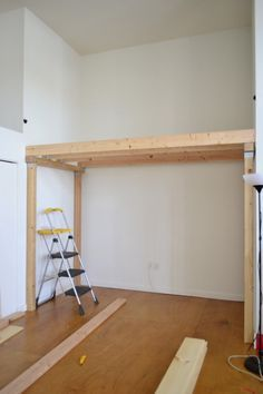 we added 2 more joist beams and attached with deck braces for a secure and sturdy loft floor