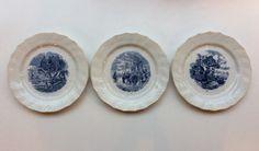 sinivalkoiset lautaset . 3kpl . halkaisija 20cm