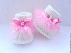 """Купить комплект """" Маленькая балерина"""" - розовый, пинетки для новорожденных, пинетки для девочки, пинетки детские"""