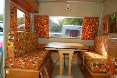 T4 Camper Interior Ideas, Airstream Interior, Vintage Airstream, Campervan Interior, Vintage Caravans, Vintage Trailers, Vintage Campers, Interior Design, Caravan Decor