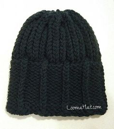 Men's knit hat.   I made this today for my husband. Went well, but wish I'd used thicker wool. Next time!