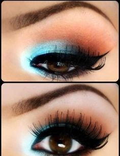 Make up idea for my brown eyed beauties <3