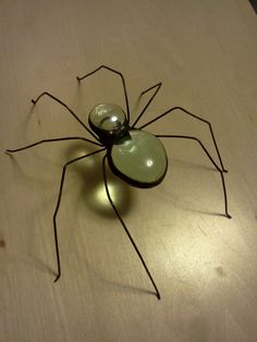 Unique Large Handcrafted Stained Glass Spider. $15.00, via Etsy.