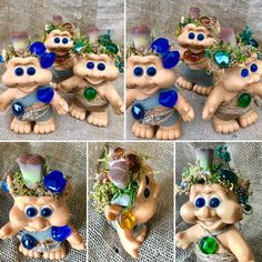 Meet Emerald, Sapphire, and Amber Cool Succulents, Something New, Troll, Amber, Emerald, Etsy Seller, Sapphire, Creative, Unique