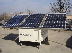 H2Optima, potabilizadora de agua portátil y autónoma, que funciona fuera de la red gracias a la energía solar