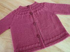 Ravelry: Seamless Yoked Baby Sweater pattern by Carole Barenys