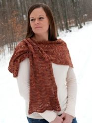 Heather's Wrap pattern by Briar Rose Fibers