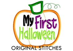 My First Halloween Applique and Embroidery by OriginalStitches