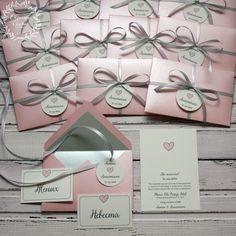 """Купить Приглашение в конверте """"Сердечко"""" - бледно-розовый, розовый, розовый кварц, приглашения на свадьбу, пригласительные"""
