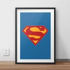 Plakat z logiem Supermana w wersji kolorowej