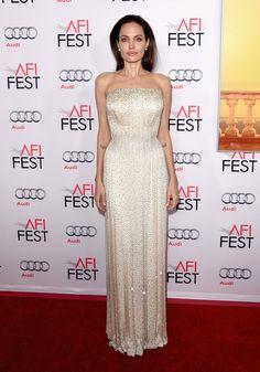 Angelina Jolie Pitt Strapless Dress