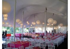 Loving the pink for spring and summer weddings!