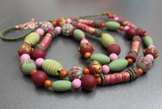 polymer clay necklace!