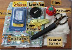 DIY: Camera Strap Lens Cap Pocket