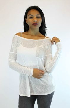 Bejeweled Pocket Top in White | T Party - Vamped Boutique
