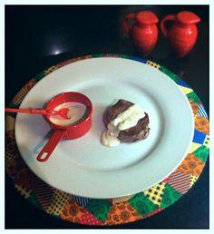 Molho de gorgonzola sobre medalhão de filet