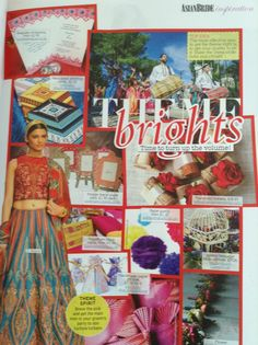Fuschia feature in the Autumn issue of Asian Bride.  Our Bombay mix place cards and invitations a showcased on the page of the magazine called Theme Brights.  Go and get your copy today to be inspired for your Asian dream wedding by Asian Bride.  www.fuschiadesigns.co.uk.