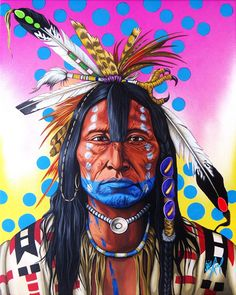 Scabby Bull by Riel Benn (award winning artist from the Birdtail Sioux First Nation, Southwestern Manitoba) Native American Paintings, Native American Pictures, Native American Artists, Indian Paintings, Native American Indians, Native Indian, Native Art, Native American Warrior, Southwest Art