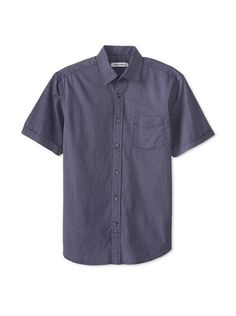 64% OFF James Campbell Men's Short Sleeve Madison Dot Shirt (Navy Combo)