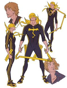 Power Man & Iron Fist Character Concepts by Sanford Greene Comic Book Characters, Comic Character, Comic Books Art, Character Design, Iron Fist Marvel, Character Model Sheet, Character Modeling, Character Reference, Art Reference
