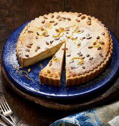 Cheer on the Azzurri with this Italian custard tart. Italian Custard, Custard Tart, Snack Recipes, Snacks, Sweet Pie, Asda, Sugar And Spice, International Recipes, Flan