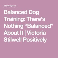 "Balanced Dog Training: There's Nothing ""Balanced"" About It 
