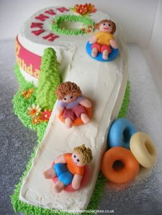 snow sledding cake - could put boys names on the tube