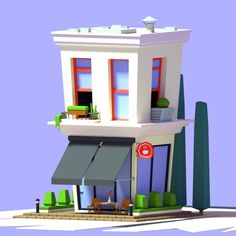 ArtStation - Low Poly Cafe, Vyacheslav Ledenev