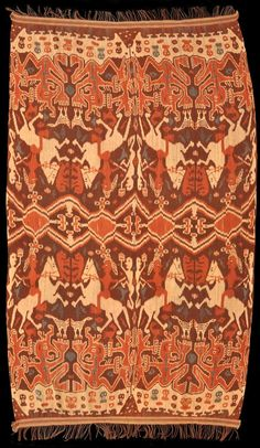 Warp Ikat hinggi (men's waist cloth) from Sumba - early 20th century. The clarity of the weaving is amazing! http://www.michaelbackmanltd.com/sitebuilder/images/Sumba_textile2-765x1319.jpg