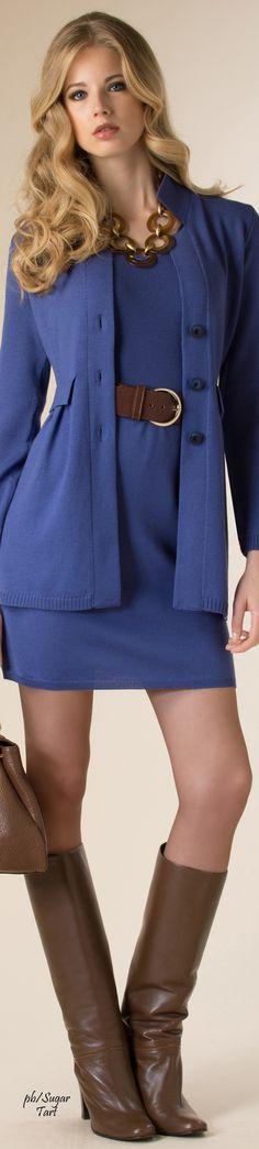 Luisa Spagnoli FW 15-16 women fashion outfit clothing style apparel @roressclothes closet ideas