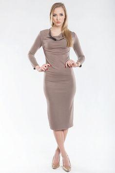 Sukienka z lejącym dekoltem SL2149 www.fajne-sukienki.pl