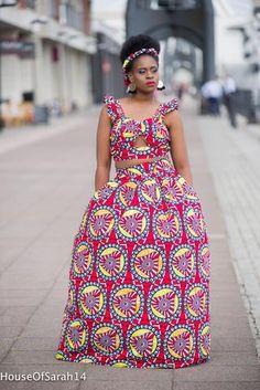 Imrah African Print Maxi Set Ankara Skirt, Maxi Skirts, African Wear, African Skirt, Africa Fashion, Easy Wear, Ankara Styles, Fashion Wear, Skirt Set