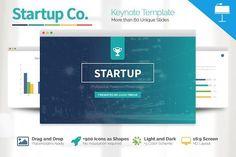Startup Business Keynote Template by Slidedizer on @creativemarket