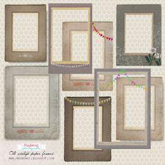 freebie- vintage-paper-frame-badge by maybe*mej, via Flickr