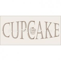 Cupcake No 2 Stencil