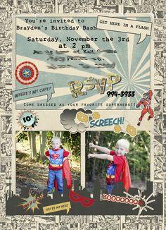 "Super Hero! / Birthday ""Brayden's Comic Book Super Hero Party!"" | Catch My Party"
