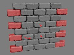Brick wall with zBrush.
