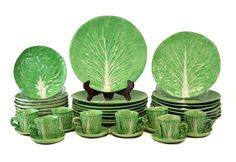 Dodie Thayer Lettuce Hand Crafted Earthenware Dinner Service for 8 | eBay