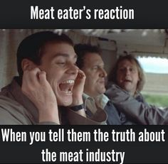 Meat eaters reaction lmao.
