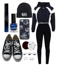 """outfit"" by kwharmony on Polyvore featuring too cool for school, Shiseido, Kate Spade, Mudd, MSGM and Converse"