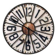 Parlane Huge Rustic Steeple Clock, 76cm