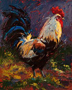 Марли от Cheri Christensen Oil ~ 20 x 16 Rooster Painting, Rooster Art, Chicken Painting, Chicken Art, Paintings I Love, Animal Paintings, Chicken Pictures, Watercolor Bird, Wildlife Art