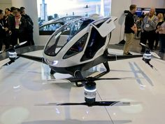 Autonomous Drone Taxis To Take First Flight Later This Year - Get excited! Drone taxis are coming and the eHANG 184 could very well become the way we transport ourselves in the near future. #tech