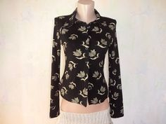 Vintage Women's Shirt / Black women's blouse / by GuestFromThePast