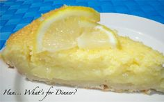 Want to try this with homemade pie crust...  Lemon bars in pie form!
