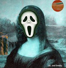 Mona Friends, Mona Lisa Parody, Mona Lisa Smile, Collages, Halloween Pictures, Classical Art, Caricature, Pop Culture, Halloween Face Makeup