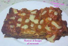 Pasticcio di lasagne al microonde