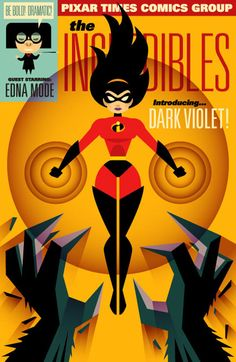 The Pixar Heroine - Dark Violet Disney And Dreamworks, Disney Pixar, Walt Disney, Disney Concept Art, Disney Fan Art, Violet Parr, Disney Movies, Disney Characters, Fanart